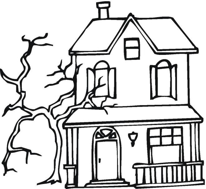 660x606 Haunted House Drawing Ideas