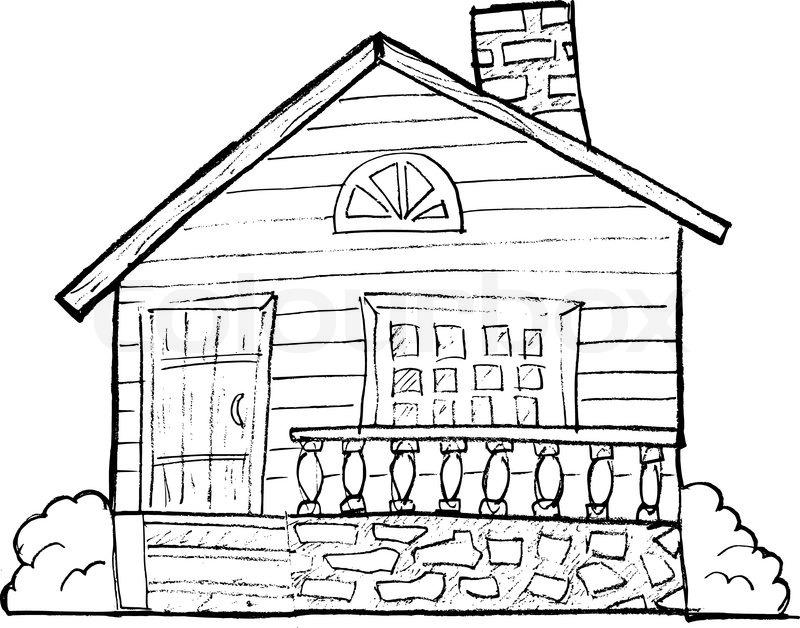 800x628 House, Vector Image Stock Vector Colourbox