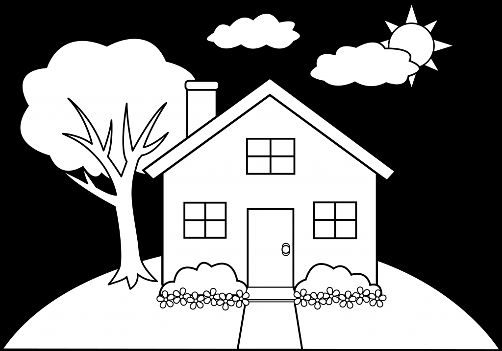 1024x718 Simple House Drawing Home Designs Idea