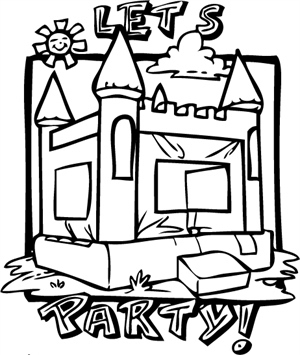 300x355 Image Result For Bounce House Clip Art Black And White School