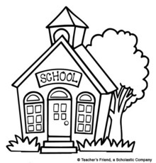 220x230 School House Clipart Black And White Hd Letters