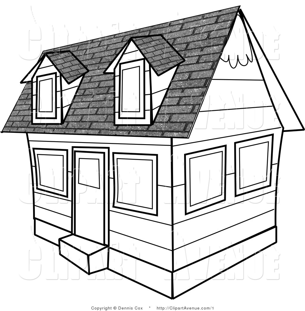 1024x1044 Avenue Clipart Of A Black And White Residential Rental Home By