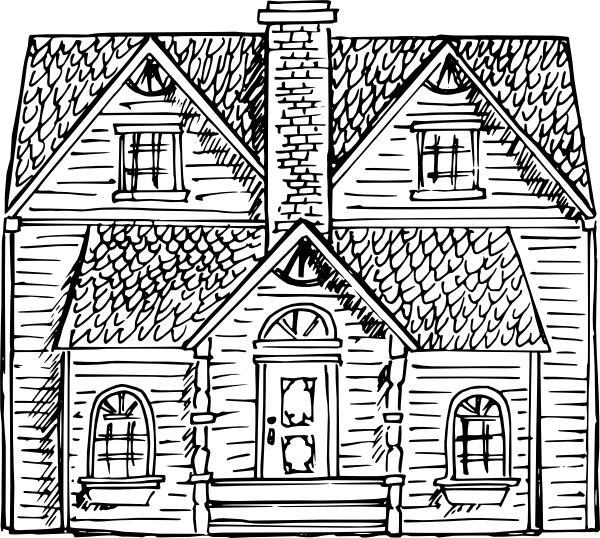 600x538 Victorian House Clip Art Free Vector In Open Office Drawing Svg