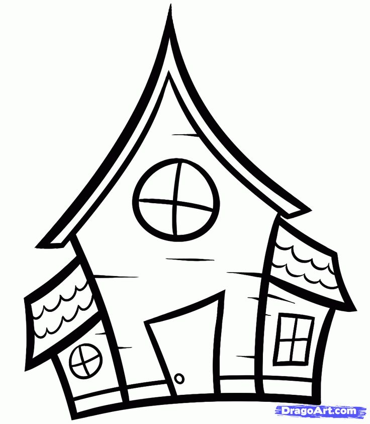 Line Drawing Of Your House : House outline drawing at getdrawings free for