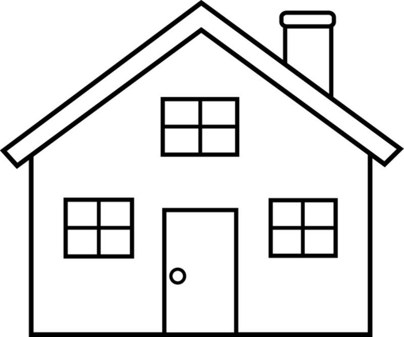 800x666 House Outline House Clipart Line Drawing Pencil And In Color House