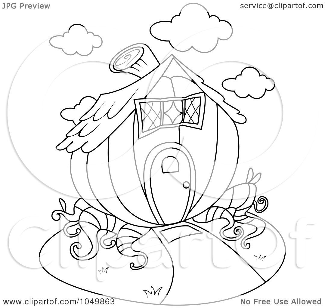 1080x1024 Royalty Free (Rf) Clip Art Illustration Of A Coloring Page Outline