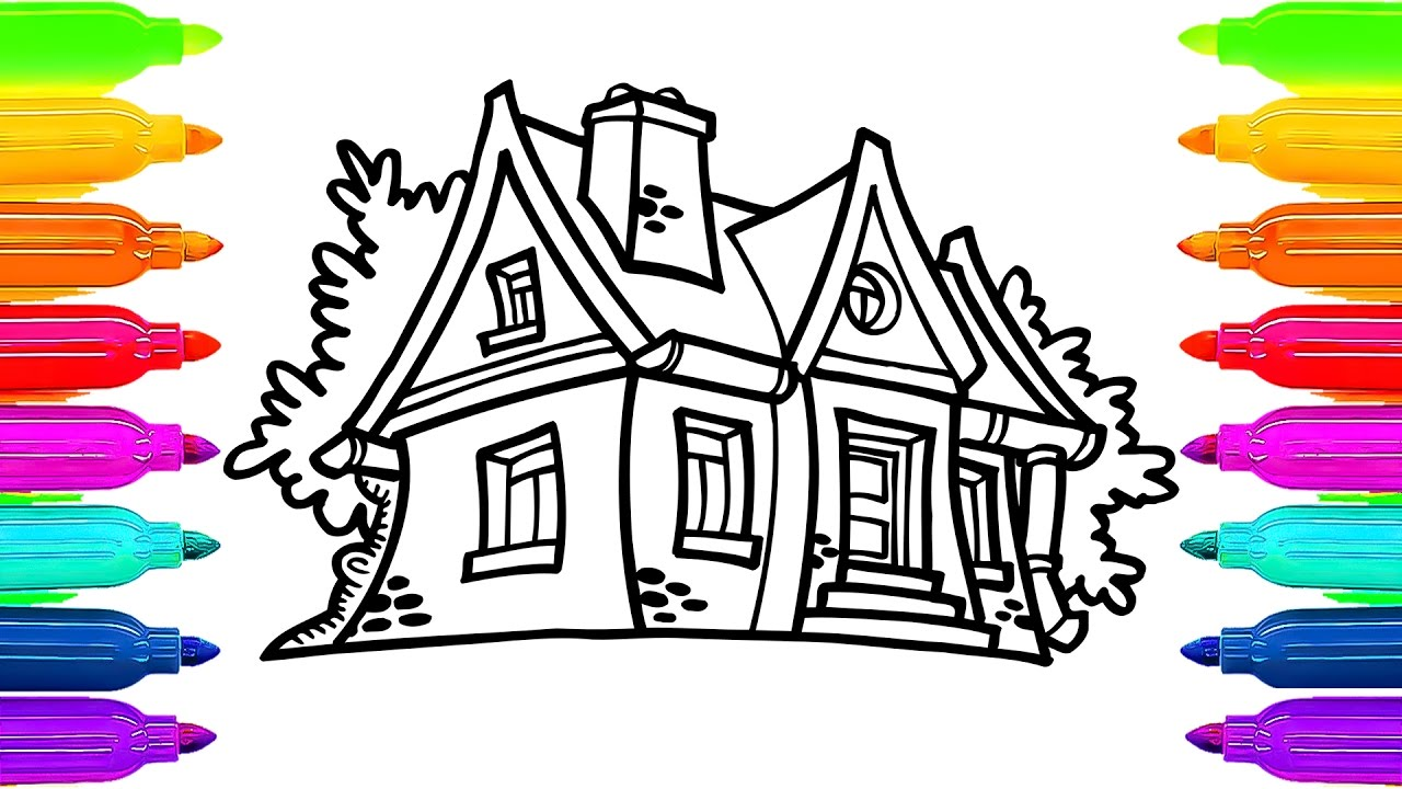 1280x720 Fairy House Coloring Book For Kids How To Paint Learning Videos