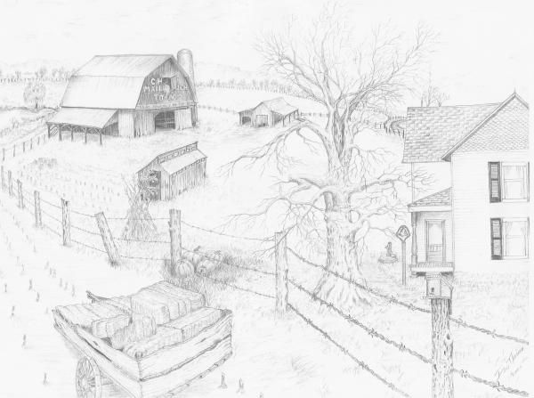 House Pencil Drawing