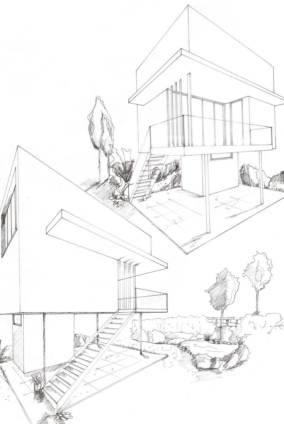 936x1398 Marielegrand Perspective Drawings Perspective