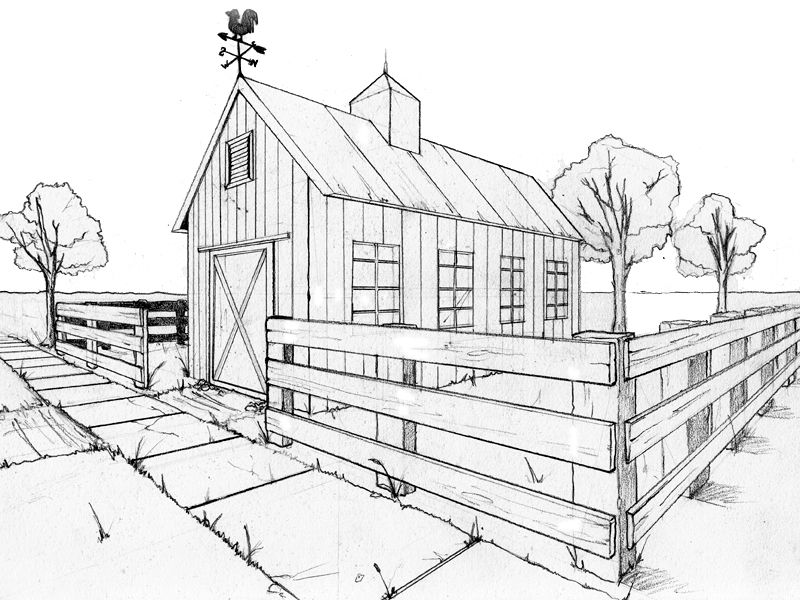 800x600 Two Point Perspective Exercise By ~beamer On School