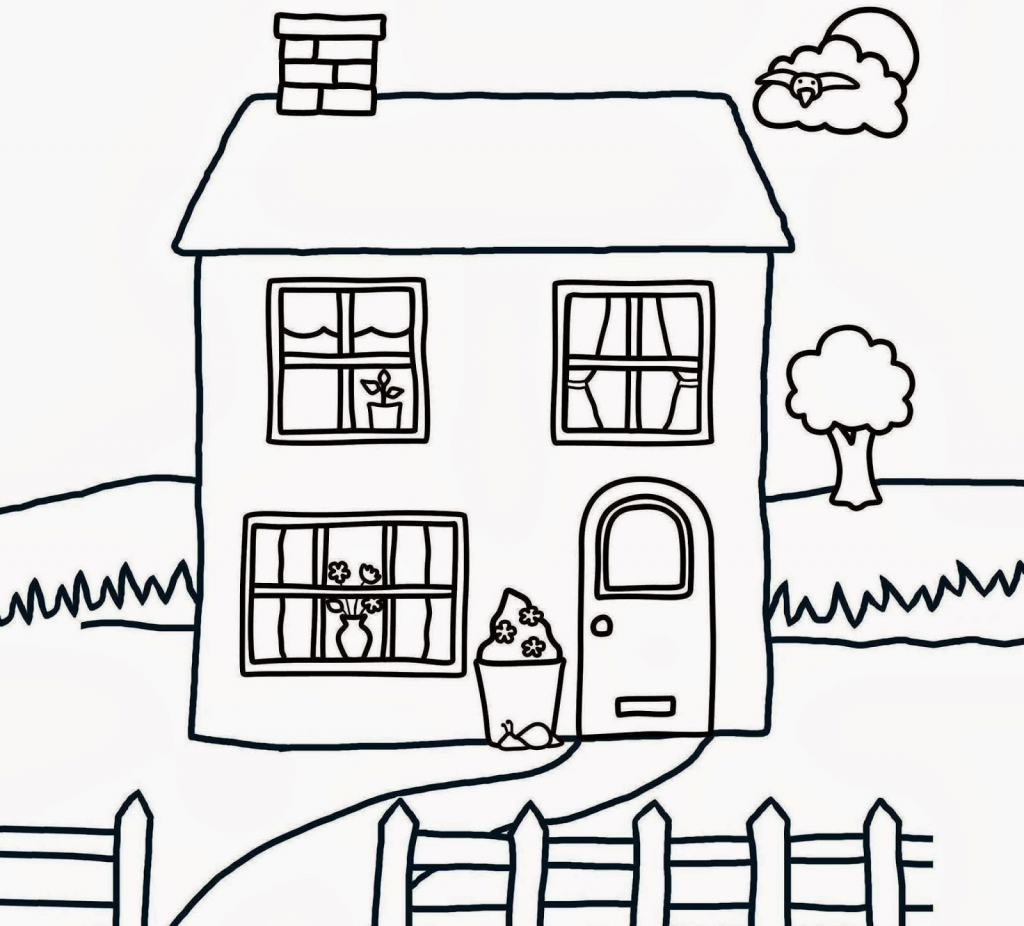 1024x926 drawing of house - Simple Drawing House