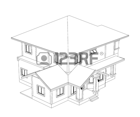 450x375 Drawings, Design House No Colour Stock Photo, Picture And Royalty
