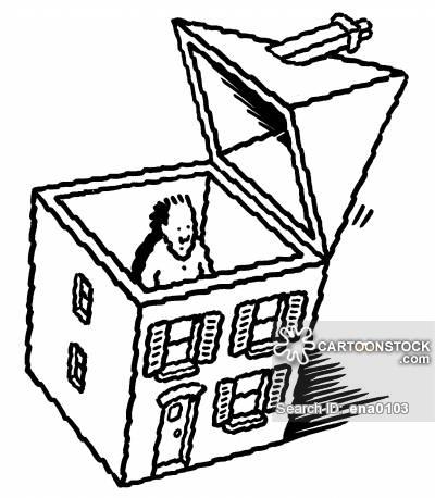 400x458 House Roof Cartoons And Comics