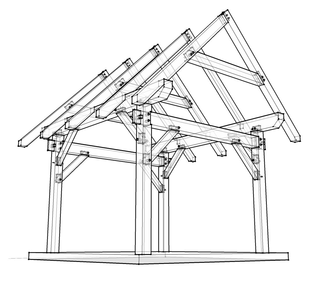 1093x969 12x12 Timber Frame Plan Joinery, Cabin And Tiny Houses