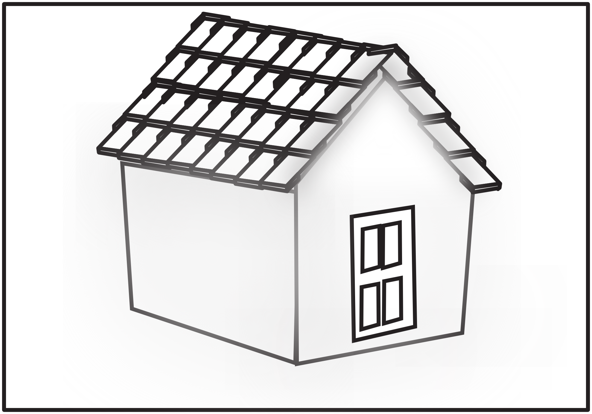1979x1385 Roof Clipart Black And White
