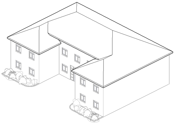 600x426 Create A Roof Slope Using Slope Arrows Revit Lt Autodesk