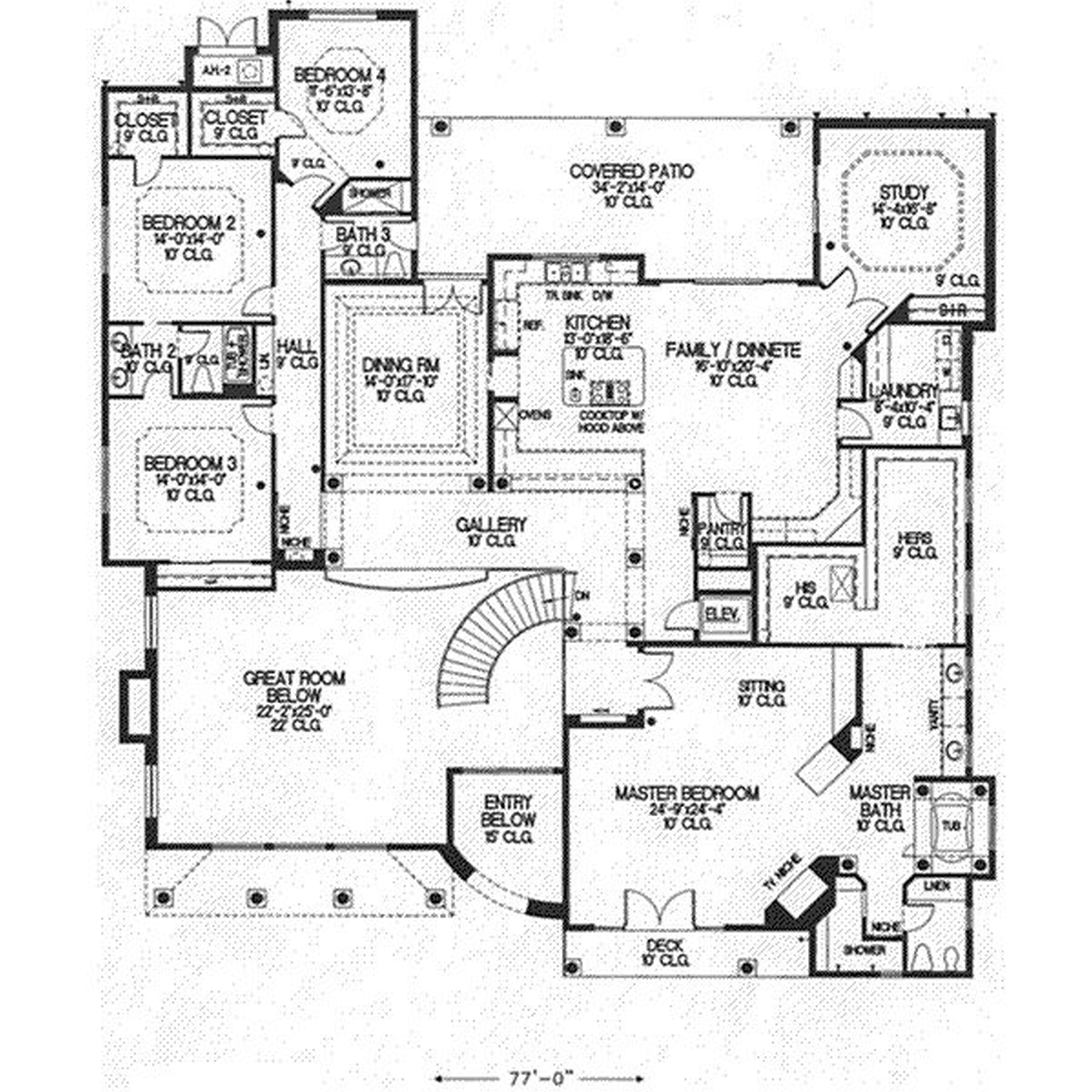 5000x5000 Home Design Drawings