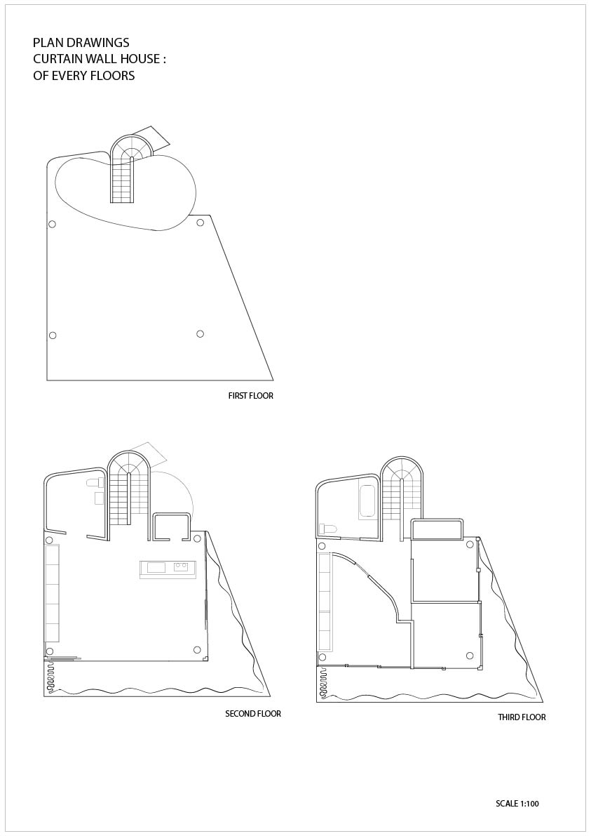 843x1191 Shigeru Ban, Curtain Wall House, Tokyo, Japan, 1995 Draw Draw