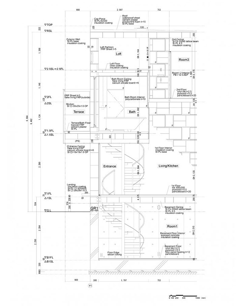 800x1009 Architecture Stunning House Section Plan Of Brick Cell House