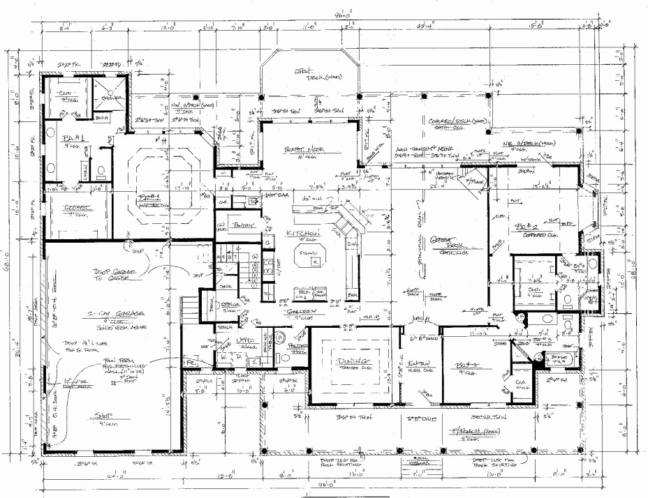 House site plan drawing at free for for Autocad floor plan samples