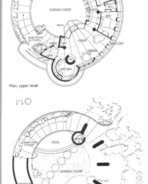 300x372 Frank Lloyd Wright 2d Site Plan Drawing Example Featuring Ground