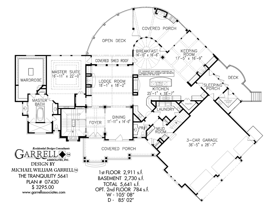 906x700 Tranquility 5641 House Plan House Plans By Garrell Associates, Inc.