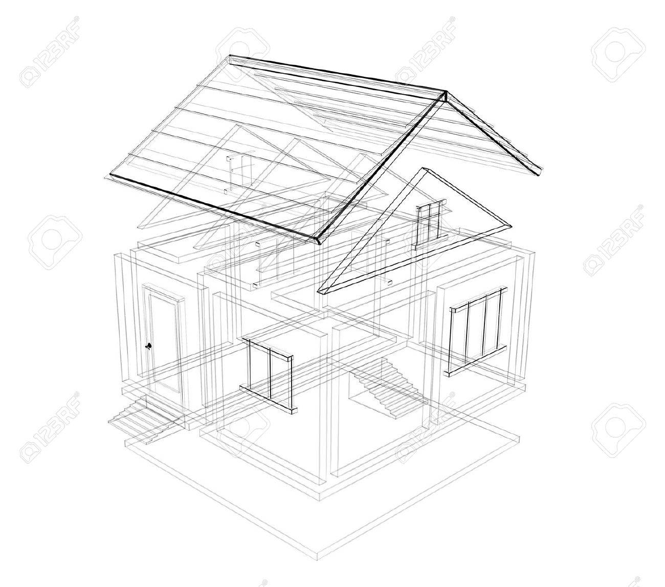 House Sketch Drawing