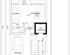 270x210 House Plan For A Small Space Ground Floor + 2 Floors Freelancer