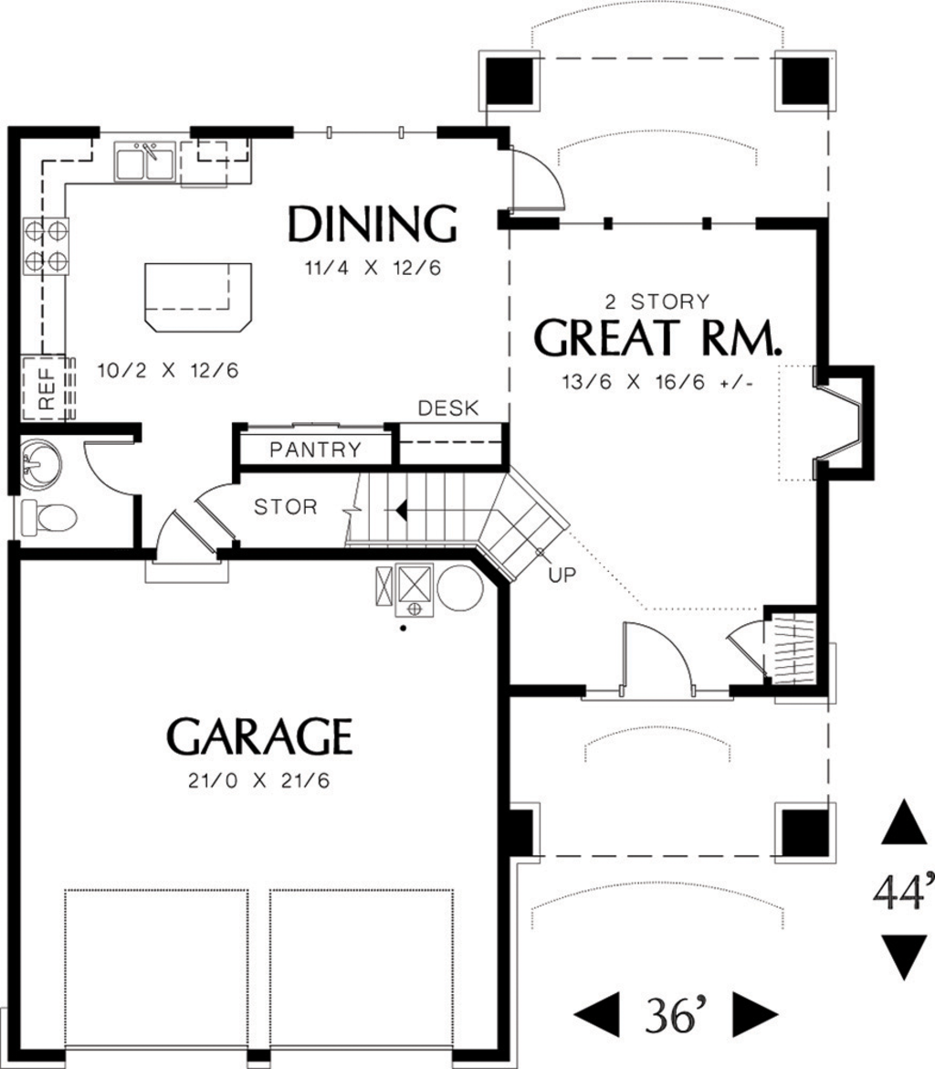 1024x1170 Traditional Style House Plan