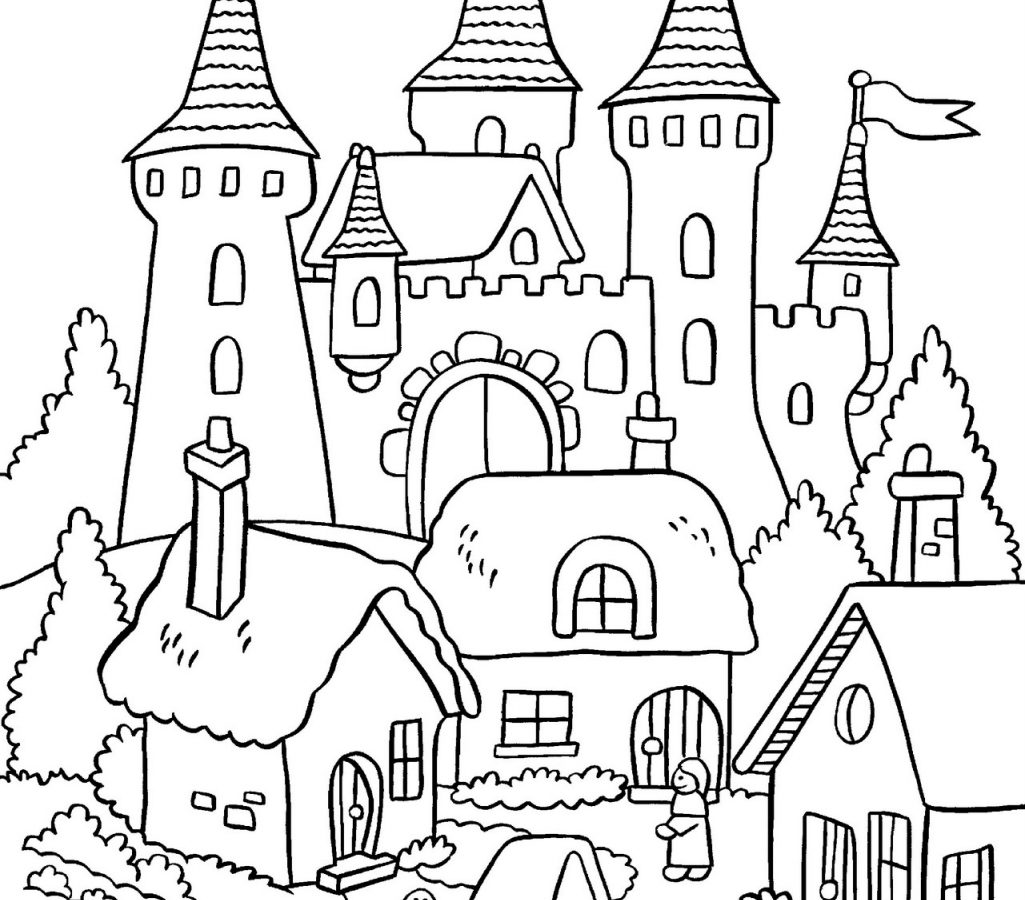 1025x900 Building House Construction Coloring Pages Look Real Drawing