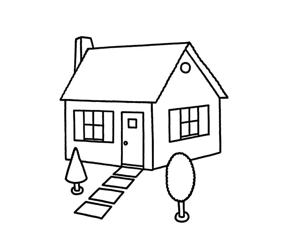 954x753 Simple House Drawing Home Designs Idea