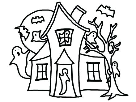 440x330 Creepy Haunted House In Houses Coloring Page Color Book Murs