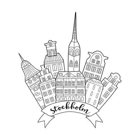 450x450 Line Drawing Amsterdam Stock Vectors, Royalty Free Line Drawing