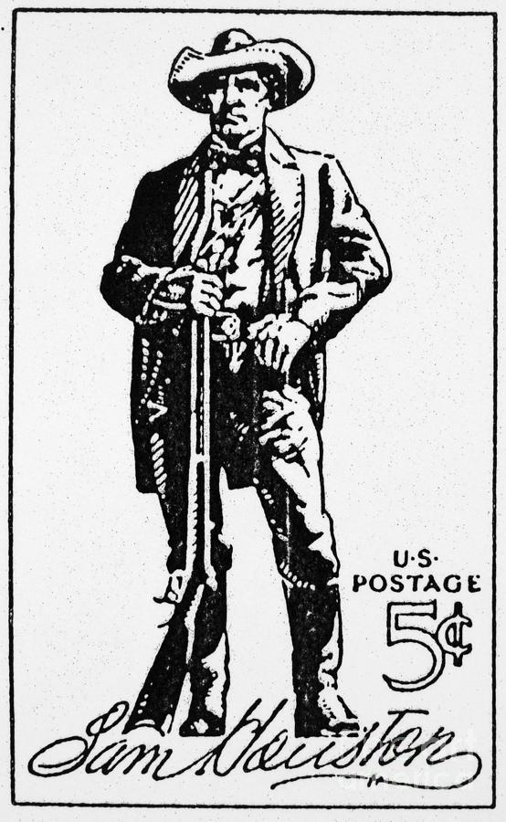 554x900 Sam Houston (1793 1863) Photograph By Granger