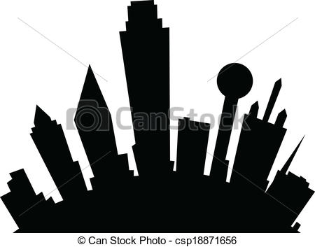 450x353 Dallas Skyline Clipart