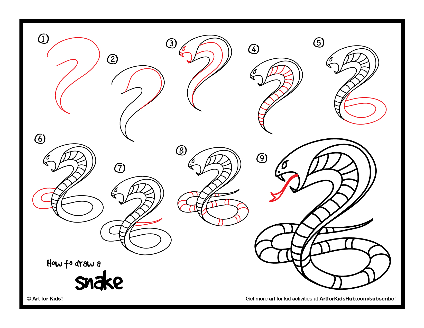 1650x1275 How To Draw A Snake