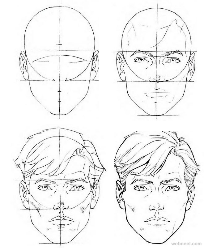 660x809 How To Draw A Face