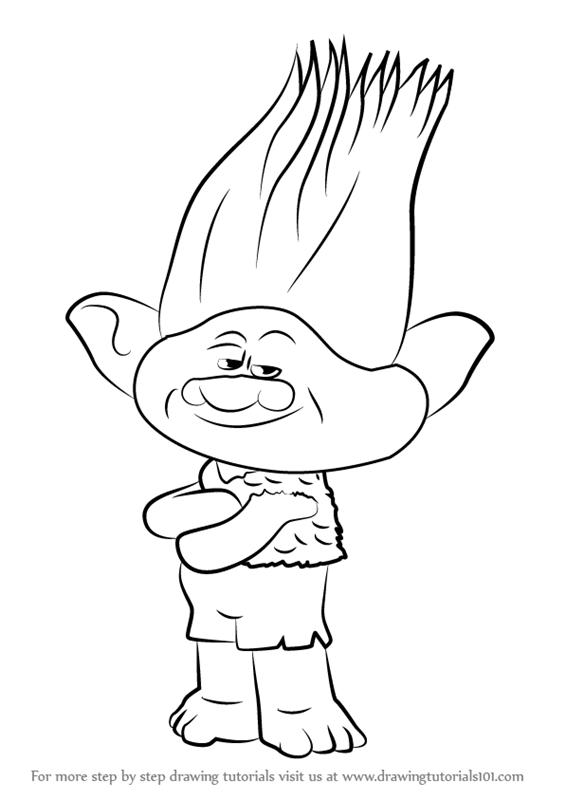 565x800 Learn How To Draw Branch From Trolls (Trolls) Step By Step