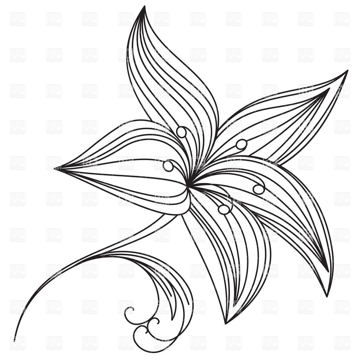 1200x1200 Drawn Lily Beautiful Flower