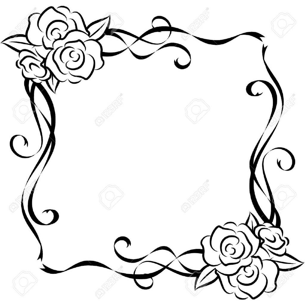 1024x1024 Beautiful Flower Simple Drawing