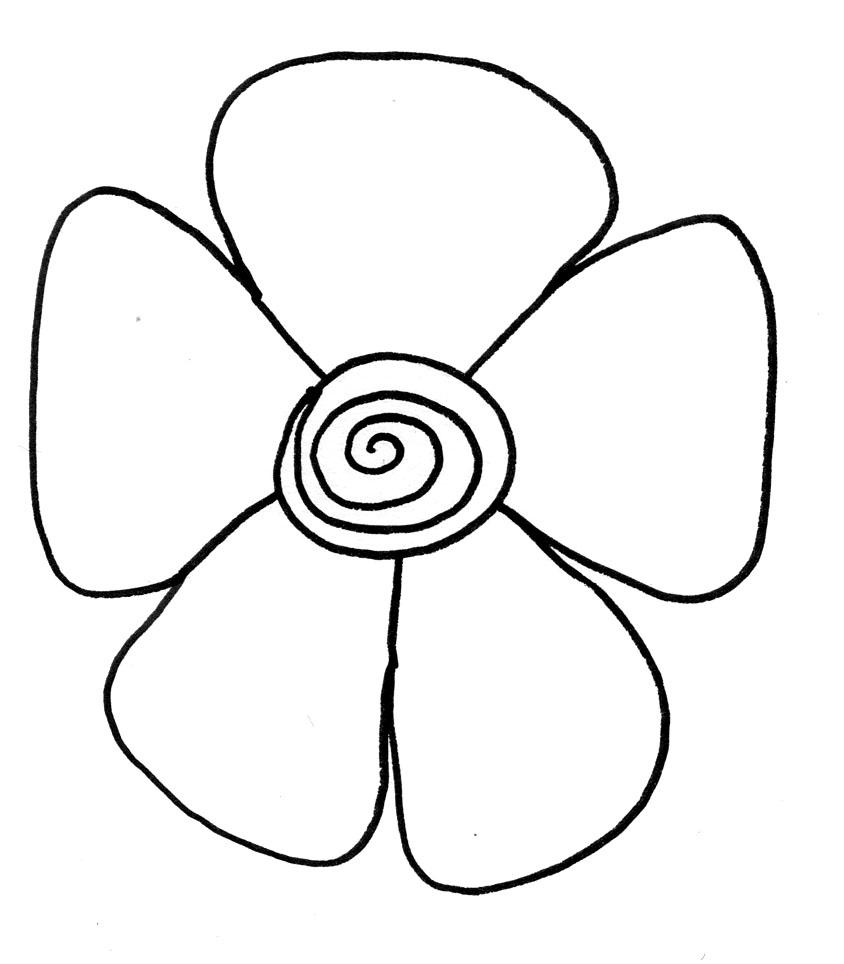 844x964 Easy Flowers Drawings Step By Step