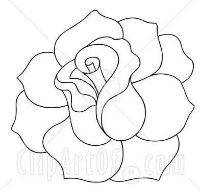 394x376 Easy Rose Drawings In Black And White Clipart