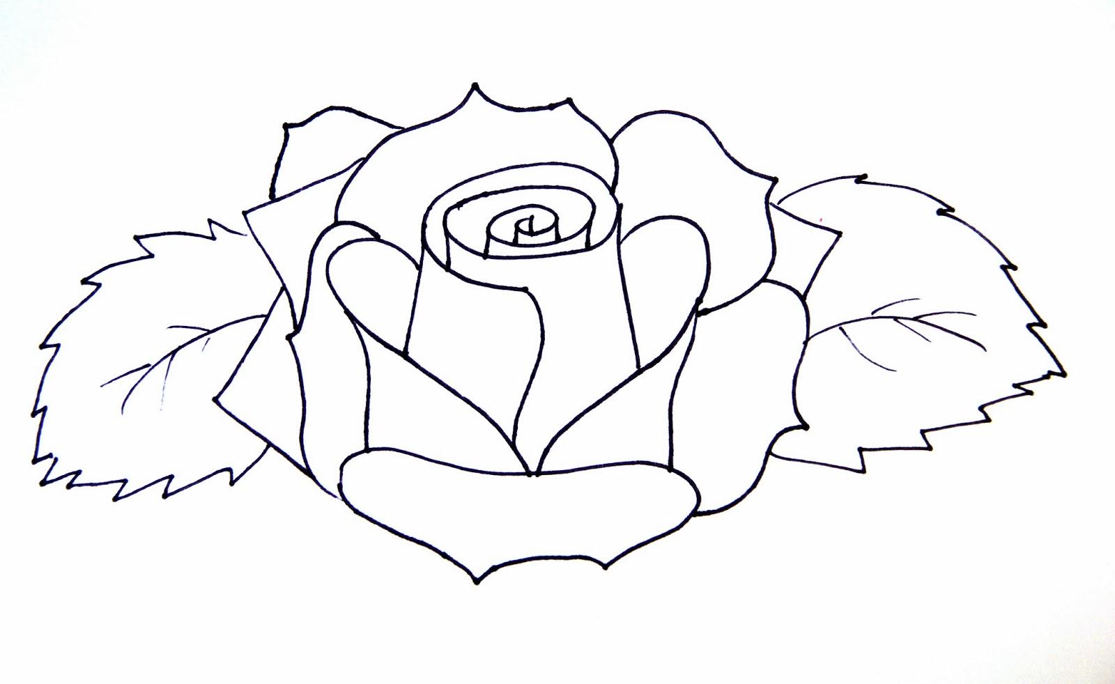 1600x982 Flowers Drawings Roses
