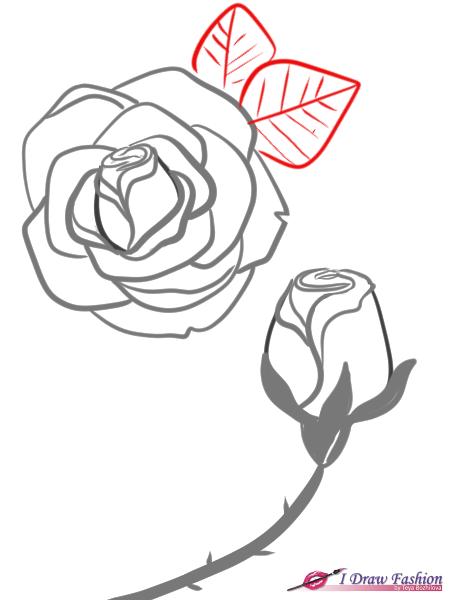 450x600 How To Draw Roses I Draw Fashion