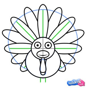300x305 How To Draw How To Draw A Thanksgiving Turkey