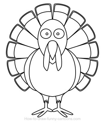 350x412 Outline Of A Turkey