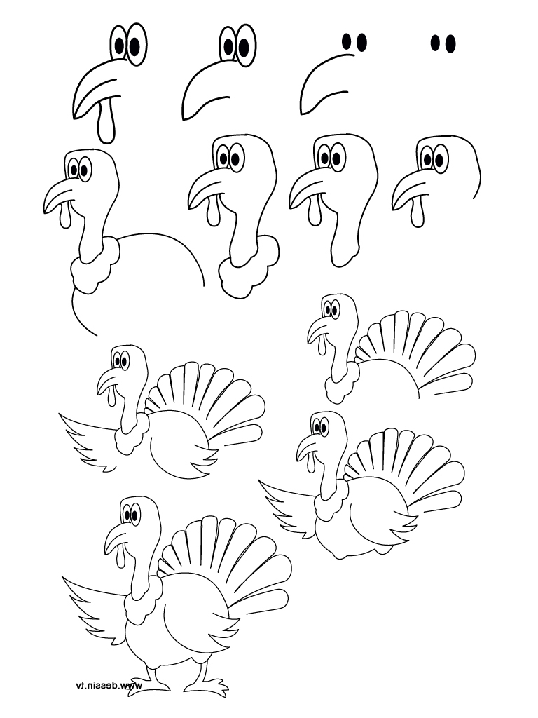 768x1024 Drawing Of Turkey Turkey Drawing Olegandreev. How To Draw