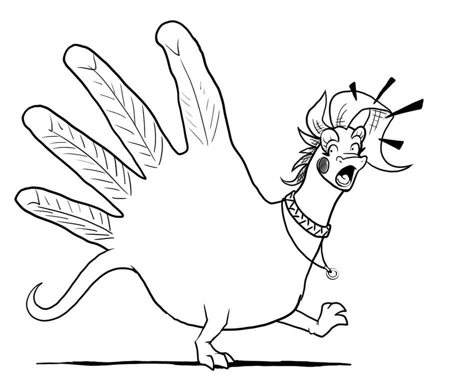 900x750 Hand Turkey By Lizardbeth