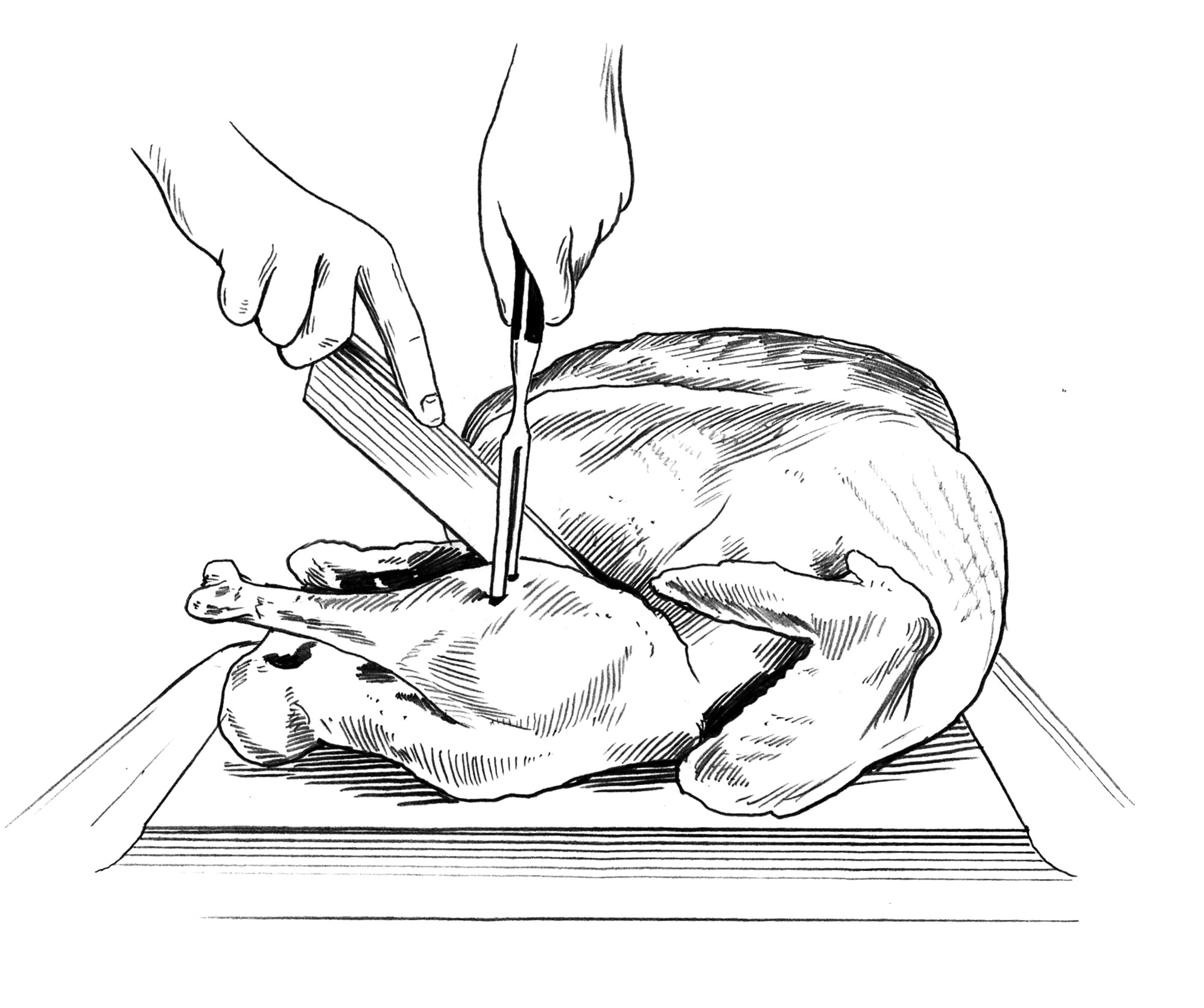1996x1671 No Need To Panic How To Carve A Turkey, One Slice