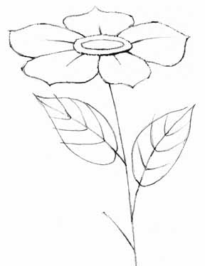 288x374 How To Draw A Rose By Following These Easy Steps